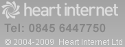 Heart Internet - UK Hosting